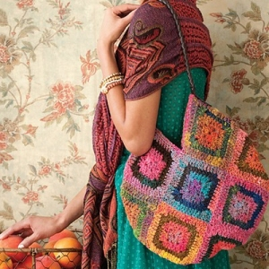 Noro Kureyon Crochet Granny Square Purse Kit - Women's Accessories