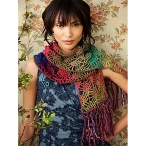 Noro Shiraito Crochet Strawberry Lace Scarf Kit - Scarf and Shawls