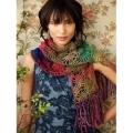 Noro Shiraito Crochet Strawberry Lace Scarf