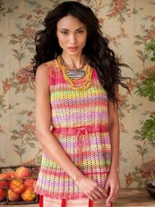 Noro Taiyo Sock Crochet Shell Stitch Tunic Kit - Women's Sleeveless
