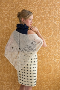 Classic Elite MountainTop Vail Lace Shawlette Kit - Scarf and Shawls