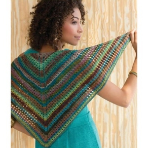 Classic Elite Liberty Wool Light Striped Shawlette Kit - Scarf and Shawls