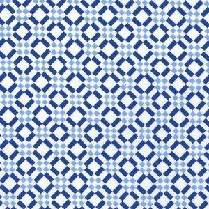 Michael Miller Fabrics Blue & White Fabric - Porcelain Check