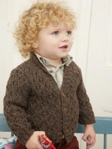 Rowan Baby Merino Silk DK Kurt Cardigan Kit - Baby and Kids Cardigans