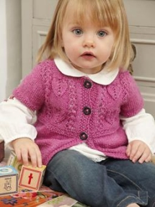 Rowan Baby Merino Silk DK Rapunzel Cardigan Kit - Baby and Kids Cardigans