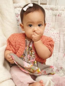 Rowan Baby Merino Silk DK Liesl Shrug Kit - Baby and Kids Cardigans