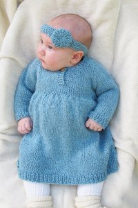 Knitting Pure and Simple Baby & Children Patterns - 1403 - Baby Dress Pattern