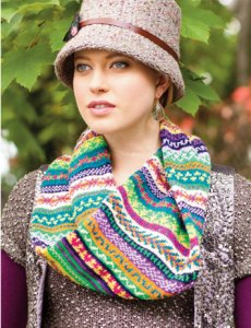 Koigu Fair Isle Cowl Kits - Fair Isle Cowl Kit - Yarn & Magazine