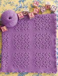 Cascade 220 Superwash Lavender Lace Baby Blanket Kit - Baby and Kids Accessories