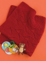 Cascade 128 Superwash Ruby Red Baby Blanket