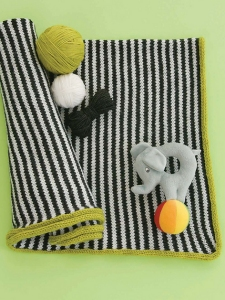 Cascade 220 Superwash Pinstripe Perfection Baby Blanket Kit - Baby and Kids Accessories