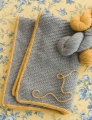 Cascade 128 Superwash Silver and Gold Baby Blanket
