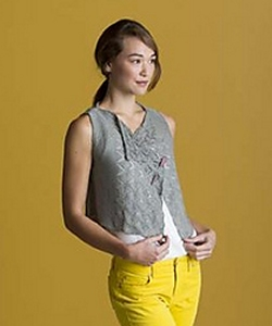 Shibui Knits Linen Die Cut Vest Kit - Vests