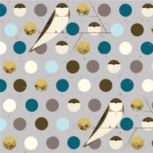 Birch Fabrics Charley Harper Knits Fabric - Bank Swallow Blue (K-CH-07)