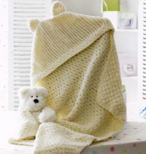 James C. Brett Patterns - Baby & Children Patterns - JB174 - Hooded Blanket