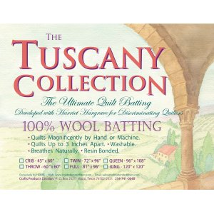 Tuscany Collection 100% Washable Wool Batting - Queen - 96in x 108in