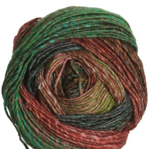 Noro Silk Garden Lite Yarn - 2083 Peach, Forest, Brown, Spring Green