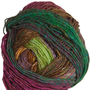 Noro Silk Garden Lite Yarn - 2109 Gold, Magenta, Brown, Green