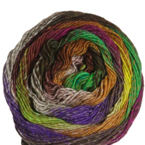Noro Taiyo Sport Yarn - 08 Gold, Lime, Magenta, Purple, Browns