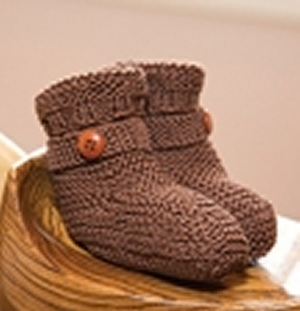 Tahki Cotton Classic Lite Buttoned-Up Boots Kit - Baby and Kids Accessories