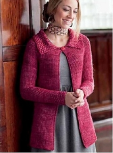 Madelinetosh Tosh DK Marisol Cardigan Kit - Crochet for Adults