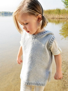 Blue Sky Alpacas Worsted Cotton Cameron Hoodie Kit - Baby and Kids Vests