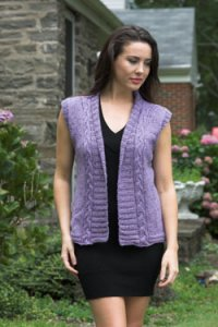 Plymouth Adult Vest Patterns - 2663 Cabled Vest/Cardi Pattern