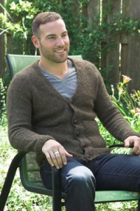 Plymouth Jacket & Cardigan Patterns - 2660 Men's Top Down V-Neck Cardigan Pattern