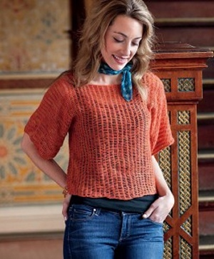 Malabrigo Lace Baby Merino Lorelei Pullover Kit - Crochet for Adults