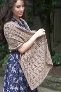 Plymouth Women's Accessory Patterns - 2629 Cathedral Windows Shawl Pattern