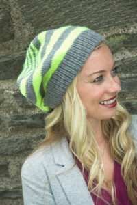 Plymouth Women's Accessory Patterns - 2657 Multi Stripe Slouch Hat for the Family Pattern