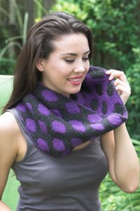 Plymouth Women's Accessory Patterns - 2662 Double Knit Polka Dot Cowl Pattern