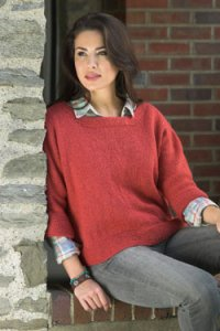 Plymouth Yarn Sweater & Pullover Patterns - 2673 Women's Dolman Pullover Pattern