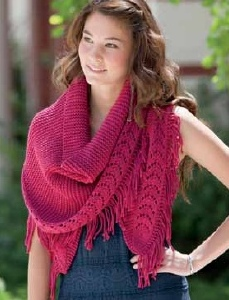 Spud & Chloe Sweater Rhoeas Shawl Kit - Scarf and Shawls