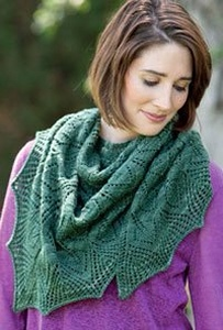 Manos del Uruguay Silk Blend Spathe Shawl Kit - Scarf and Shawls