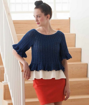 Cascade Heritage Silk Smoky Cropped Top Kit - Crochet for Adults