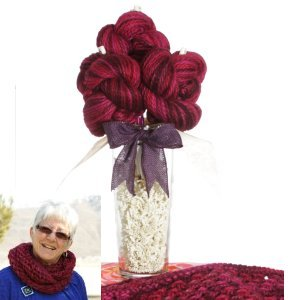 "Jimmy Beans Wool Koigu Yarn Bouquets - ""Cascade Crush"" Baby Alpaca Chunky Hand Painted Bouquet"
