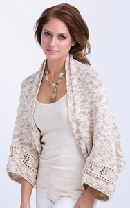 TSCArtyarns Zara Hand Dyed Birch Bark Shrug Kit - Women's Cardigans