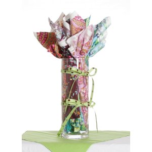 Jimmy Beans Wool Fabric Bouquets - Amy Butler Alchemy Fabric Bouquet