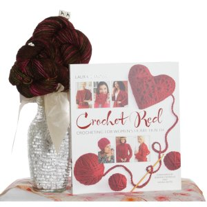 Jimmy Beans Wool Koigu Yarn Bouquets - Crochet Red Madelinetosh Wilted Rose Bouquet (With Book)