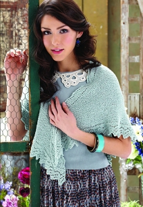 Knit One Crochet Too Cozette Lace Edged Shawl Kit - Scarf and Shawls