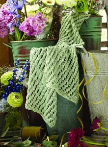 Plymouth Linen Concerto Diagonal Lace Scarf Kit - Scarf and Shawls
