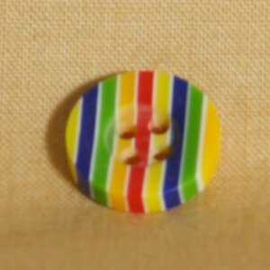 Muench Plastic Buttons - Stripes - Primary (13mm/0.5inch)