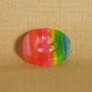 Muench Plastic Buttons - Stripes - Summer Sherbert (13mm/0.5inch)