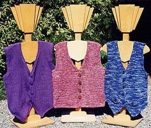 Ann Norling Patterns - 27 - Adult Basic: Knitted Vest Pattern