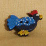 Muench Plastic Buttons - Chicken - Light Blue