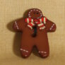 Muench Plastic Buttons - Gingerbread Boy