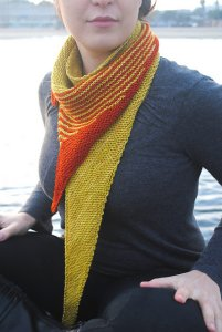 Grace Akhrem Patterns - Striped Tooth Shawl Pattern