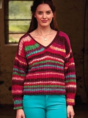 Noro Kirara Dewey V-Neck Sweater Kit - Women's Pullovers