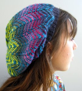 KnitWhits Patterns - Viatrix Slouchy Hat Pattern